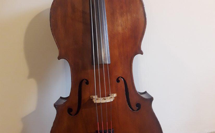 Restauration d'un violoncelle 3/4